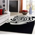 Payeur Transitional Hand Woven Black/White Indoor Area Rug