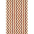 Palm Springs Hand-Hooked Red/Rust Indoor/Outdoor Area Rug Rug Size: Rectangle 9'3