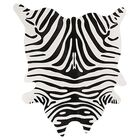Grady Black/Off-White Zebra Cowhide Rug
