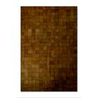 Aayush Four Square Patch Hand-Woven Cowhide Brown Area Rug Rug Size: 8' x 10'