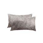 Graham Leather Lumbar Pillow Color: Gray