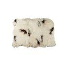 Curpin Hand-Woven Sheepskin White/Black Area Rug