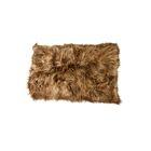 Dagon Hand-Woven Sheepskin Brown Area Rug