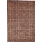 Plum Pictogram Brown Area Rug Rug Size: Rectangle 6' x 9'