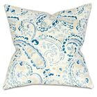 Morrison Linen Throw Pillow Color: Blue