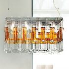 Tessuti 8-Light Kitchen Island Pendant Shade Color: Amber