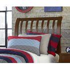 Granville Rake Sleigh Headboard Color: Cherry, Size: Queen