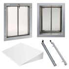 PlexiDor Performance Pet Doors Large Wall Series Bundle Color: Silver