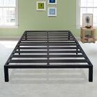 Branson Black Metal Platform Bed Frame Size: Twin XL