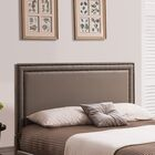 Baffin Upholstered Panel Headboard Size: Full/Queen, Color: Taupe