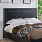 Baffin Upholstered Panel Headboard Color: Black, Size: King/California King