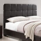 Kenville Upholstered Panel Headboard Color: Brown, Size: King/California King