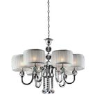 Pure Essence 6-Light Shaded Chandelier