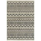 Fletcher Tribal Lines Gray Area Rug Rug Size: Rectangle 6'7