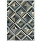 Dracut Geometrico Blue Area Rug Rug Size: Rectangle 3'10