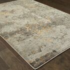Knox Marbled Stone Gray/Gold Area Rug Rug Size: Rectangle 5'3
