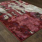 Elara Bordeaux Red/Beige Area Rug Rug Size: Rectangle 6'7