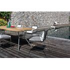 Reef 180 Aluminum Dining Table� Base Finish: Anthracite / Cross Bar Anthracite, Top Finish: Black HPL
