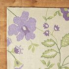 Trailing Vines Purple Rug Rug Size: Rectangle 5' x 7'6