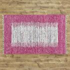 Static Hand-Woven Wool Pink/White Area Rug Rug Size: Rectangle 8' x 10'