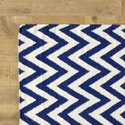 Moves Like Zigzagger Blue Rug Rug Size: Rectangle 5' x 8'