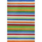 Rainbow Hand-Woven Wool Green/Blue/Orange Area Rug Rug Size: Rectangle 7'6