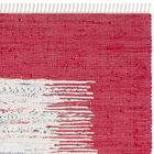 Static Hand-Woven Cotton Red Area Rug Rug Size: Rectangle 9' x 12'