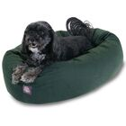 Bagel Donut Dog Bed Color: Green, Size: X-Large (52