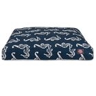Sea Horse Rectangle Pet Bed Size: Large (50