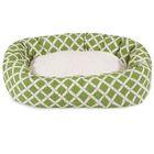 Bamboo Sherpa Bagel Pet Bed Size: Medium (32