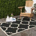 Short Black/Beige Indoor/Outdoor Area Rug Rug Size: Rectangle 6'7