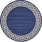Cendrillon Blue Area Rug Rug Size: Round 8'