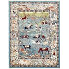Ledger Blue/Ivory Area Rug Rug Size: Rectangle 10' x 13'