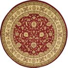 Fairmount Red/Cream Area Rug Rug Size: Round 8'