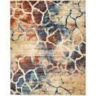 Jani Rectangle Beige/Blue Abstract Area Rug Rug Size: Rectangle 8' x 10'