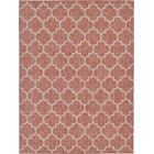 Tandridge Rust Outdoor Red Area Rug Rug Size: Rectangle 9' x 12'