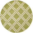 Storyvale Green Area Rug Rug Size: Round 8'