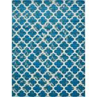 Sarno Turquoise Indoor/Outdoor Area Rug Rug Size: Rectangle 9' x 12'