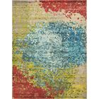 Demian Blue/Red Area Rug Rug Size: Rectangle 9' x 12'
