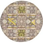 Rune Brown Area Rug Rug Size: Round 6'