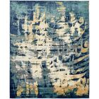 Jani Traditional Beige/Blue Abstract Area Rug Rug Size: Rectangle 8' x 10'