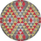 Auyeung Red/Gray Area Rug Rug Size: Round 8'