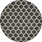 Moore Black Area Rug Rug Size: Round 10'