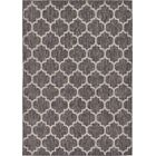 Ernestine Black Indoor/Outdoor Area Rug Rug Size: Rectangle 7' x 10'