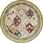 Rupe Green Area Rug Rug Size: Round 10'