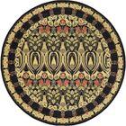 Fonciere Black Area Rug Rug Size: Round 8'