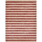 Valarie Red/Beige Area Rug Rug Size: Rectangle 7' x 10'