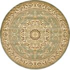 Oskar Light Green Area Rug Rug Size: Round 8'
