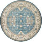 KerensaLight Blue Area Rug Rug Size: Round 8'