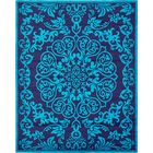 Alford Turquoise Area Rug Rug Size: Rectangle 8 x 10